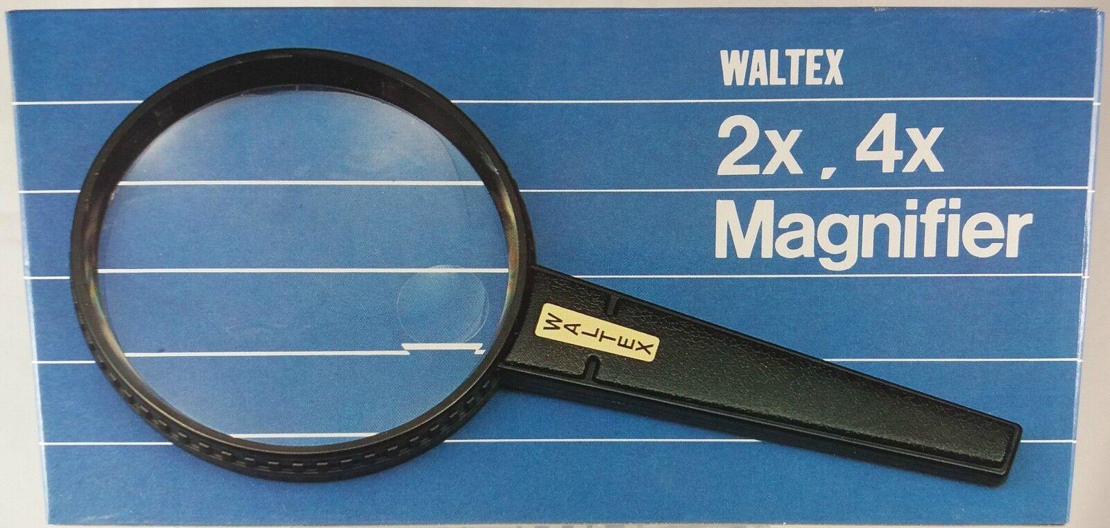 Waltex, Rond Vergrootglas Dubbele Focus, vergroting van 2x en 4x (VG05)