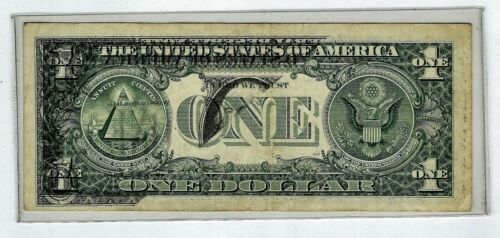OFFSET PRINTING ERROR! Series 1995 Small $1 Federal Reserve, BOSTON, Note