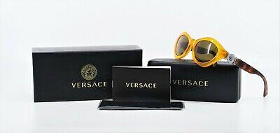 VERSACE Unisex Retro Orange/Tortoise Sunglasses w/ Box MOD 4334 5257/73 54mm