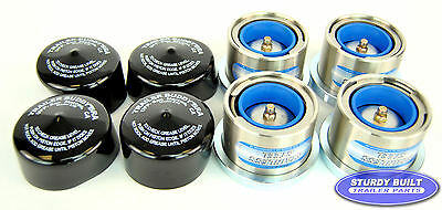 """(4) 2.717"""" Stainless Steel Boat Trailer Bearing Buddy w/ Protective Bra"""