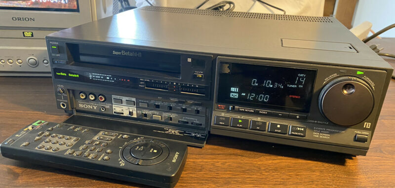 Sony SL-HF1000 Betamax Player - Tested Works - w/ Remote - Super Hi-Fi Recorder