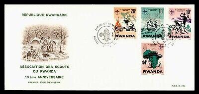 DR WHO 1978 RWANDA FDC BOY SCOUTS 10TH ANNIV  C243310