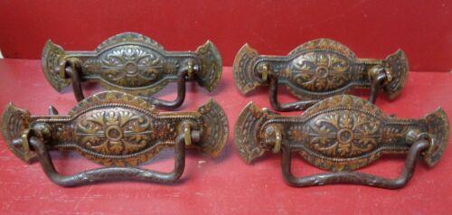 GORGEOUS ANTIQUE 1850-1915 BRASS FURNITURE CHEST PULLS