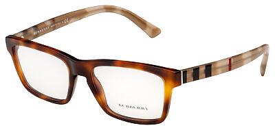 Burberry Eyeglasses BE 2226 3601 55 Light Havana Frame -
