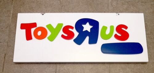 Toys R Us Logo 30in x 12in Outside Wooden Hanging Display Sign