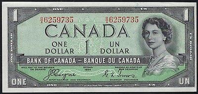 Canada 1954 One Dollar p66a