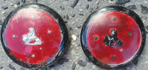 """Car Parts - EH Holden car parts - steering wheel centre x 2. Condition is """"Used""""."""