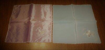 Vintage Souvenir Embroidered Handkerchiefs Hankies - Aloha Hawaii