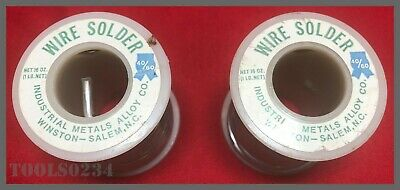 Industrial Metal Alloys Co. 4060 Wire Solder - .125 - 1 Lb Roll - Lot Of 2