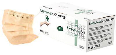 MedMaXX HS-700 3-lagige medizinische OP Maske Typ II apricot 50 Stück