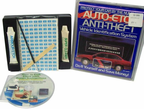VIN Etching Kit on Car, Auto, Vehicle Glass for Anti-Theft: Engrave VIN Numbers