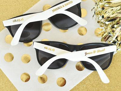 25 Personalized Wedding Sunglasses Bridal Shower Wedding Favors