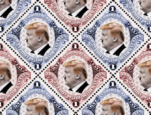 Trump - Der Fuhrer of the Divided States - (Artistamp, Faux Postage, REPRO)