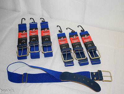 """Alleson Athletic Adjustable Elastic Baseball Softball Belt Adult 32"""" - 46"""" Blue"""