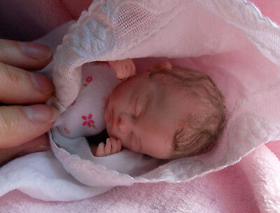 "Tiny OOAK baby ""Olivia""  by HEARTWORK BABIES. Angelic posable miniature newborn!"