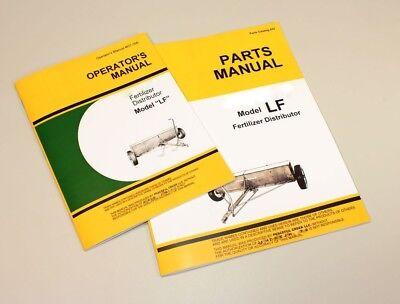 Operators Parts Manuals For John Deere Lf 8 10 12 Fertilizer Distributor Catalog