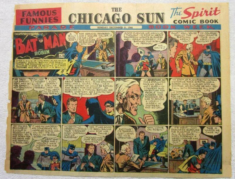 BATMAN AND ROBIN Sunday Comic Page  12/31/44