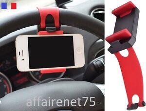 support t l phone portable fixation universel au volant. Black Bedroom Furniture Sets. Home Design Ideas