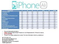 MOBILE PHONE REPAIR SERVICE - IPHONE ALI - OLDHAM - TEXT/EMAIL TO BOOK PHONE IN FOR REPAIRS ONLY