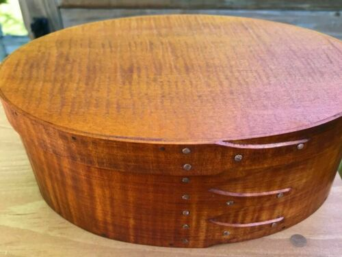 TIGER MAPLE SHAKER OVAL BOX SIZE # 4