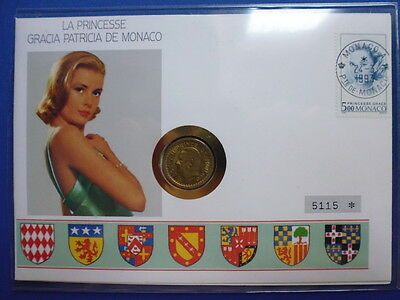 MONACO / 5 FRANCS GRACE KELLY BRIEFMARKE / 1 FRANC RAINER III