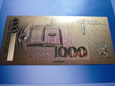 1000 DM / 24 KARAT GOLD / GOLDFOLIENNOTE GOLDBARREN #5080