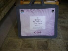 M & S DUCK FEATHER & DOWN DOUBLE DUVET 13.5 All SEASON TOG ( 9 + 4.5 )