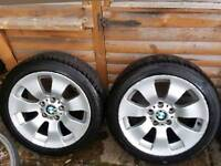 Full set BMW original Alloy wheels BBS 5 x 120 with excellent Hankook 225 45 17 tyres 7mm