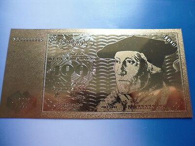 100 MARK 24 KARAT GOLD / GOLDFOLIENNOTE GOLDBARREN #4770