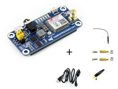 (GSM/GPRS/GNSS/Bluetooth 3.0 HAT for Raspberry Pi 2B/3B/Zero/Zero W Support Email)