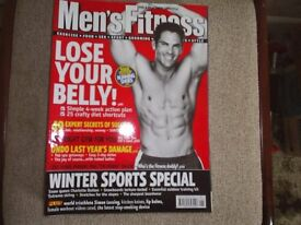 MENS FITNESS MAGAZINES 12 MAGS LOWER PRICE, SOLD AS ONE LOT.