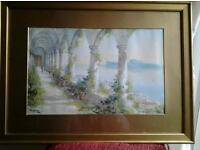 Two beutiful Italian 100% watercolours over 100 years old