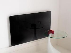 NEW MODERN RADIATOR COVER BLACK TOUGHENED GLASS UNIQUE DESIGN SMALL FURNITURE