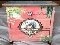 Decoupage Jewellery Box With Drawers