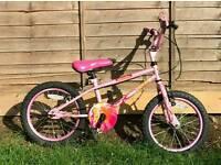 Little Girls pink bmx bike