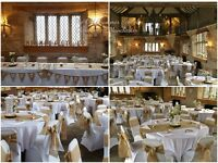 Wedding Hire Chair covers, Tablecloths, Centerpiece, Post box, wishing well, Flower filled Heart etc