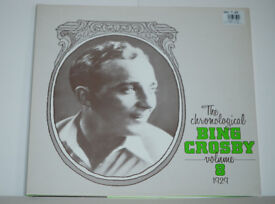 The Chronological Bing Crosby Volume 8 1929 Album. Record in excellent condition. Sleeve excellent.