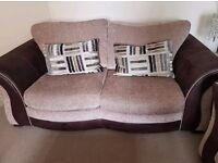 DFS 2 Seater Formal Back Deluxe Sofa Bed