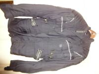 FRANK THOMAS MOTOR BIKE JACKET - Small size - GREY - Waterproof- protective armour - AS NEW £39