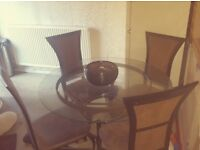DINING TABLE AND CHAIRS PERFECT CONDITION