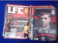 Assorted Liverpool Football Club Official Magazines
