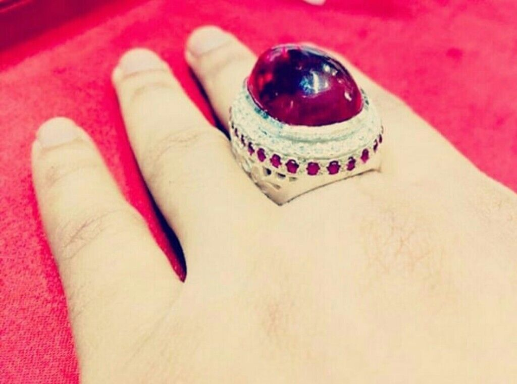 NEW EXCLUSIVE MENS PURE SILVER BLOOD RED RUBY RING DESIGNER COLLECTION GOLD  DIAMOND JEWELRY WEDDING | in Redbridge, London | Gumtree