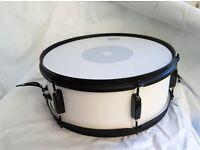 """Black & White 14"""" x 5.5"""" Steel Snare Drum"""