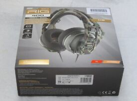 Plantronics RIG 400 Forest Camo Gaming Headset Universal PC Brand New In Box