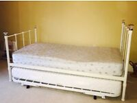 Single Bed with Pullout Guest Bed Trundle under