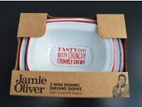 Brand New Jamie Oliver 3 Mini Serving Dishes