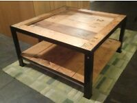 Industrial style Coffee Table made from reclaimed materials