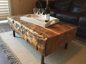 Rustic Handmade Barn Beam Coffee Tables (sets available)