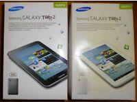 "Samsung Galaxy Tab 2 7"" 8Gb WiFi - One white, one titanium colour"