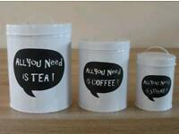 * Set of 3 RETRO CANISTERS *